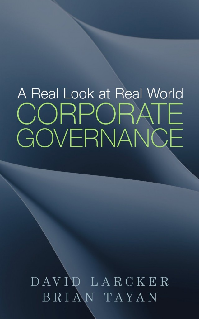 A Real Look at Real World Corporate Governance Cover